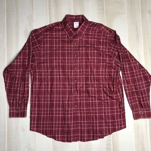 Brooks Brothers 346 Red Plaid Non-Iron Shirt